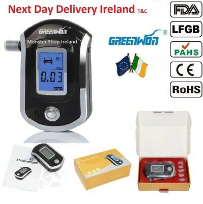 Genuine Professional Police Digital Breath Alcohol Tester Breathalyzer AT6000