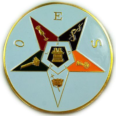 Order of the Eastern Star Masonic auto emblem decal
