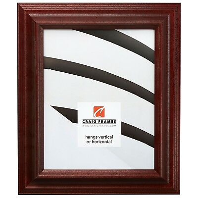 Craig Frames Wiltshire Ash 262, Cherry Red Hardwood Picture Frame