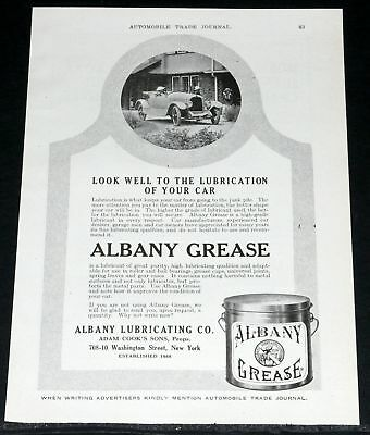 1918 Old Magazine Print Ad,albany Grease, Lubricate Your Car!