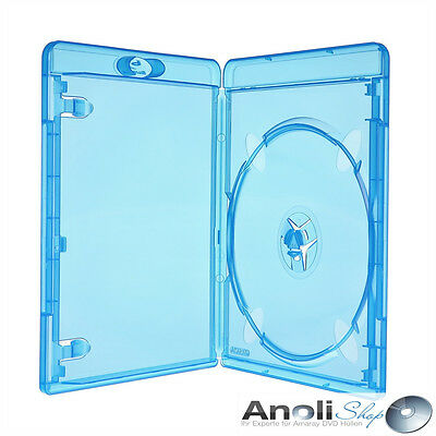 50 Amaray Bluray Single Case 11 mm für 1 Disc Leer Hülle Hüllen Neuware Original