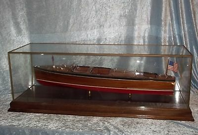 Cased Model Of Chris Craft River Launch - Quick 'n Easy