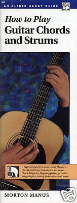How To Play Guitar Chords & Strums Handy Guide Book New