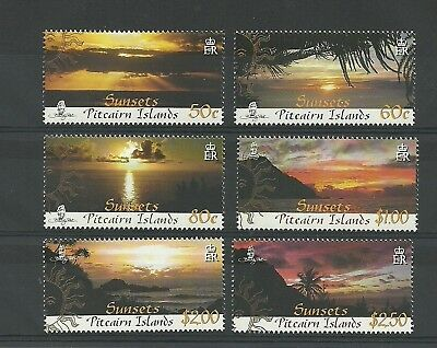 Pitcairn Islands Sg768-773-Sunsets-Mnh