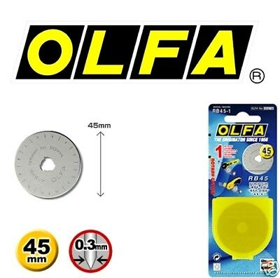 OLFA 45mm Rotary Cutter Spare Blade RB45-1 - Free Post