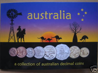 Mds Australien Kms 1 Cent - 2 Dollar Bu Im Folder