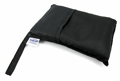 TREKSILK BLACK Silk Liner Sleeping Bag Hostel Travel Sheet Sack Bed Protector