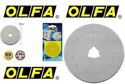 OLFA 60mm Rotary Cutter Spare Blade RB60-1 - Free Post