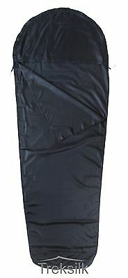 TREKSILK NAVY BLUE Single MUMMY Silk Liner Sleeping Bag Inner Sheet Travel LIght