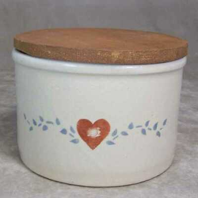 Robinson Ransbottom Pottery USA QT Low Jar/Lid Heart