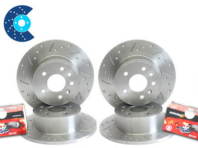 Astra H mk5 1.4 SXi Grooved Brake Discs Front Rear Pads
