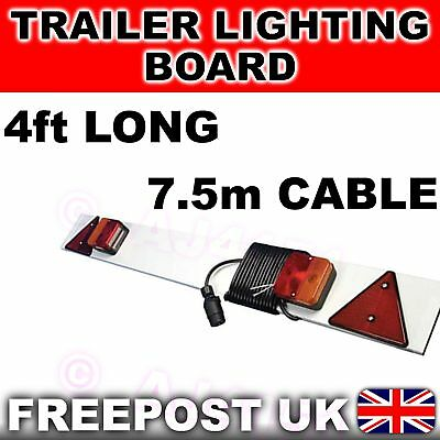 4ft Trailer Lighting Board Lights Reflectors 7.5m cable
