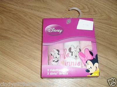 Disney   Minnie Mouse Pkt Of 3 Knickers Briefs