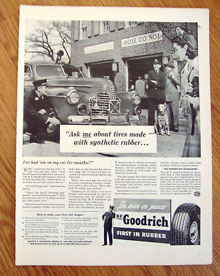 1942 B F Goodrich Tire Ad  at the Fire Station