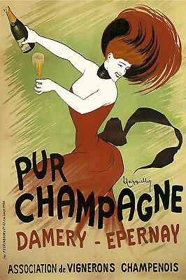 French Champagne POSTER.Stylish Graphics.Nice Room or bar Decoration.196