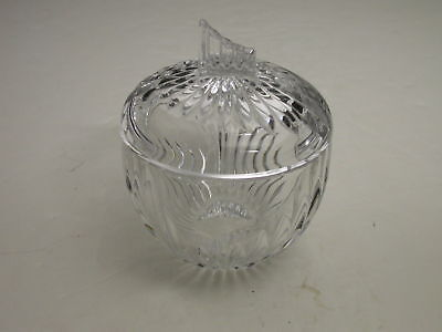"""Leaded Crystal Covered Sugar Vertical Cuts Clear 4.5"""" T"""