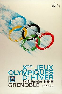1968 Grenoble Winter Olympics A3 Poster Reprint