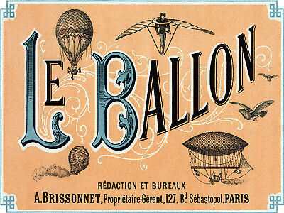 POSTER.Vintage style Graphic.Hot Air balloon.Domino.wall interior Art Decor.764