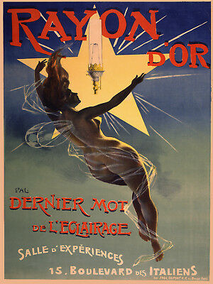 Vintage Art Deco POSTER.Stylish Graphics.Early Light.House Room Wall Decor.821