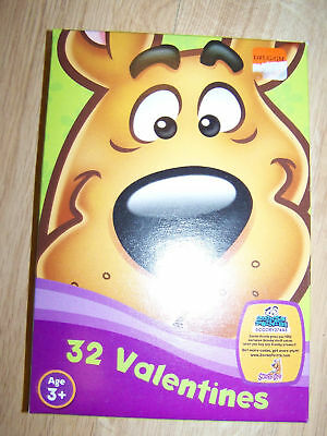 Box of 32 Scooby Doo Dog Valentine's Day Cards 8 Designs New