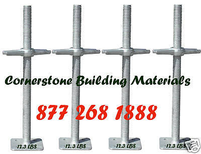 """New 24"""" Scaffolding Galvanized Screw Jack with Base plate Set of 4 CBMscaffold"""