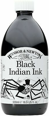 Winsor & Newton Black Indian Ink for Drawing etc  500ml