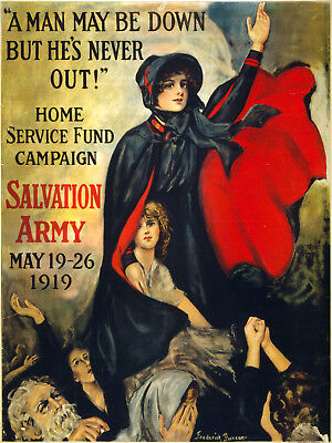 Vintage POSTER.1919 Salvation Army.Wall Art Decor.1254