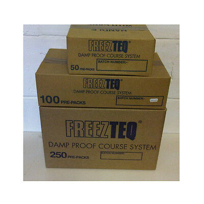 Freezteq Frozen Chemical Damp Course System Dpc 50 Pk