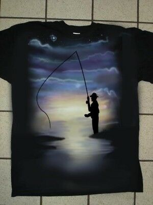 Airbrushed Angling Fly Fishing T-Shirt in all sizes