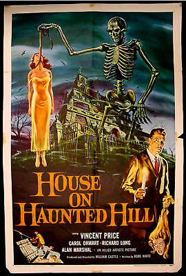 HOUSE ON HAUNTED HILL Original One Sheet