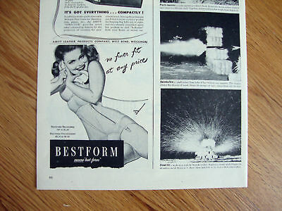 1944 Bestform Bra Girdle Ad  on the Telephone