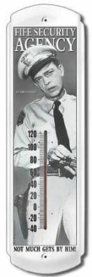 Vintage Metal Thermometer Barney Fife Security Griffith