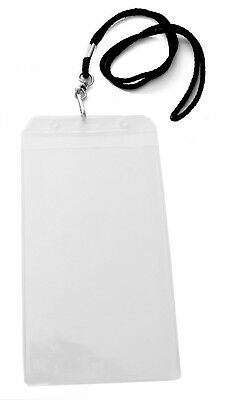Vertical Sport Ticket Holder 7 X 4 With Neck Lanyard