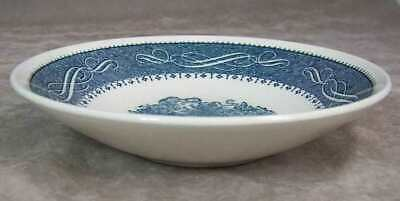 Vintage Anchor Hocking USA Currier Ives Coupe Soup Bowl