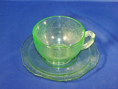 Green Florentine # 1 Cup And Saucer