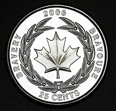 Canada 2006 Medal of Bravery 25 Cents UNC / BU