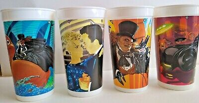 MINT CONDITION!! McDonald's Batman Returns Cups (set of 4)