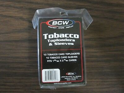 Bcw Tobacco Top Loader Pack Of 10 Count W/ Soft Sleeves