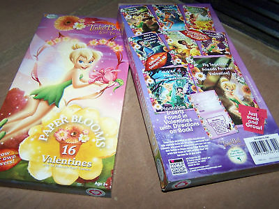 16 Disney Tinkerbell Paper Blooms Valentines Day Cards