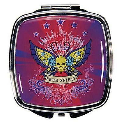 Double Compact Mirror Butterfly TATTOO - FREE SPIRIT