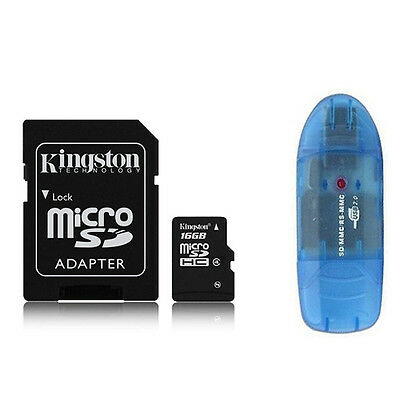 Kingston 16GB Class 4 Micro SD Micro SDHC MicroSD TF Flash Memory Card  + R