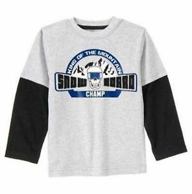 Gymboree Snowboard Legend Champ Tee Shirt Top Boys 3 3T Twins NEW NWT