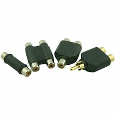 Phono Adaptor Splitter 1 Socket To 2 Sockets