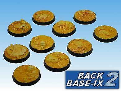 25mm Resin Scenic Bases (10) Round Desert for Warhammer