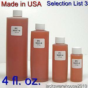 1 x 4 fl. oz. Premium Fragrance Oil Selection List 3