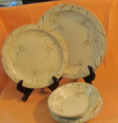 Midwinter Stonehenge ~ Wild Orchid Floral ~ Salad Plate
