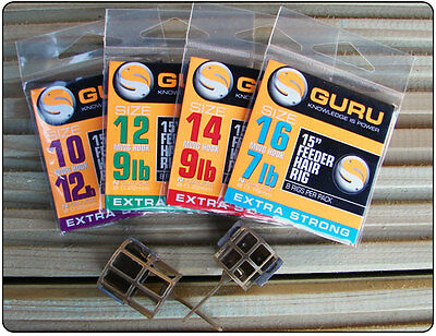 "Guru 15"" Carp Feeder Hair Rigs - All Sizes Available"