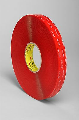 3M 4910F Clear Acrylic VHB Tape; 1mm x 6mm x 33m