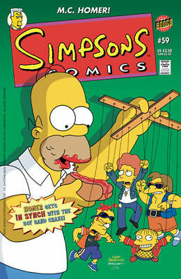 ~~~> Simpsons Comics #59 ~ N SYNC Boyband Craze cover