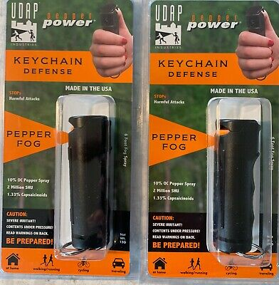 2 UDAP Pepper Spray Keychains By Makers Of Bear Spray
